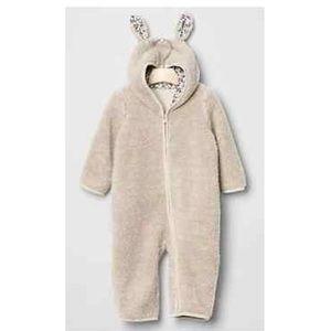 Baby Gap Sherpa Bunny Onesie w/ Matching Booties
